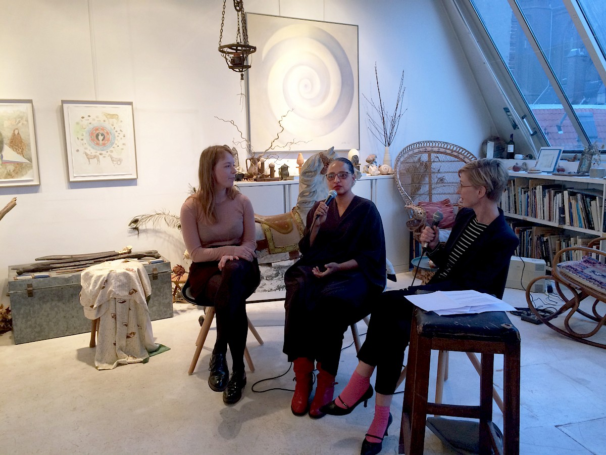 Artist talks with Femmy Otten and Sara Blokland during Amsterdam Art Weekend. Photo: © Charlott Markus
