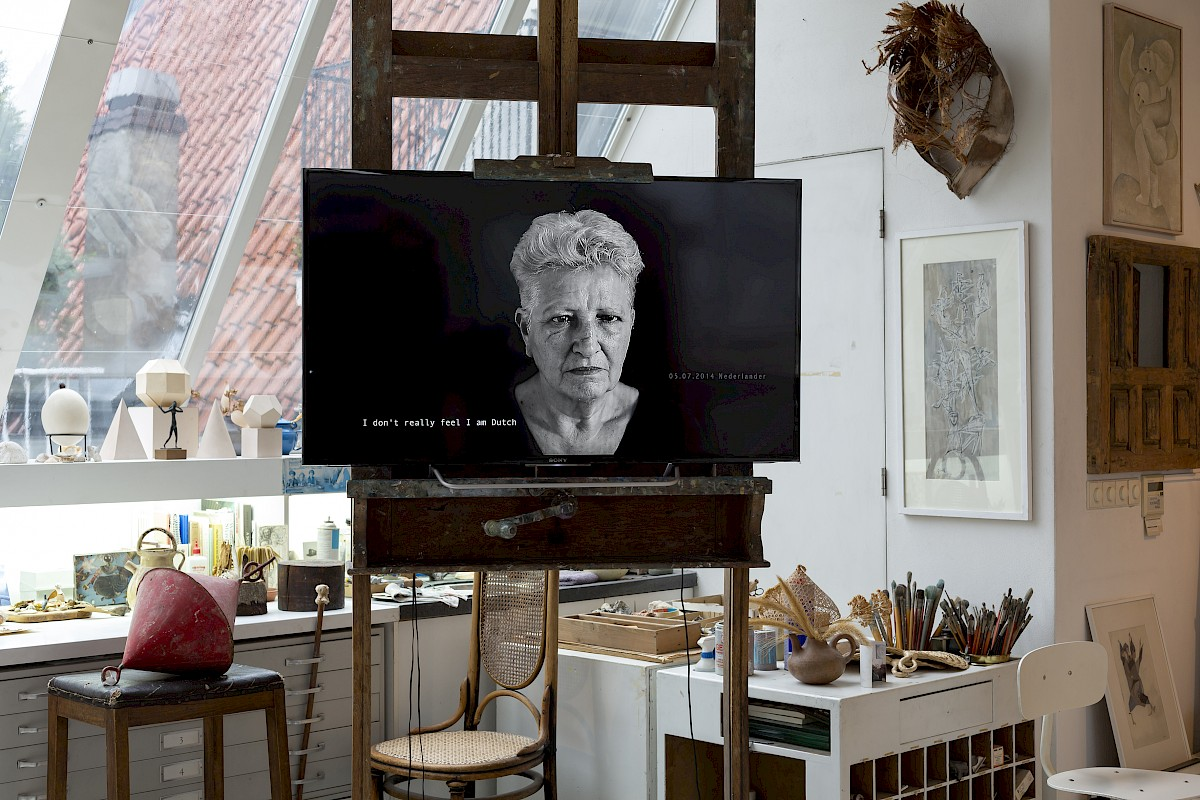 'Reproduction of Family Part 4: Mother's History, a Library of Language' by Sara Blokland. 2014. Photo: © Charlott Markus